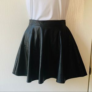 One Clothing Black Faux Leather Mini Skirt Size S